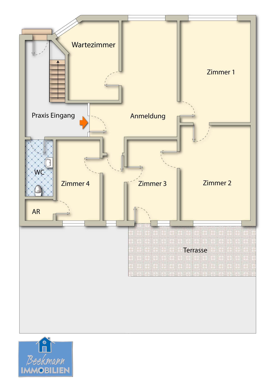 Beekmann Immobilien - Gewerbeobjekte - Büroräume | {Teeküche büro grundriss 29}